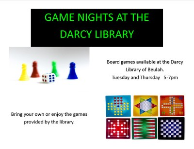 Darcy Game Nights