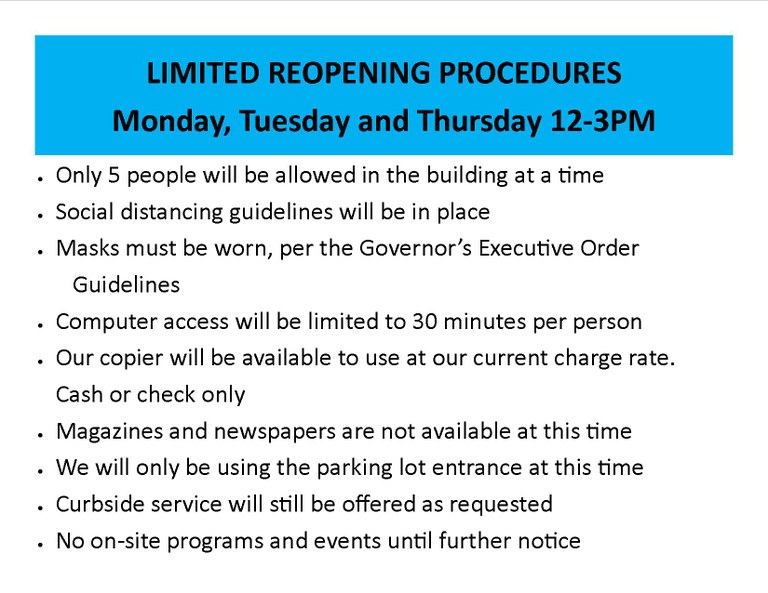 Limited Reopening Procedures